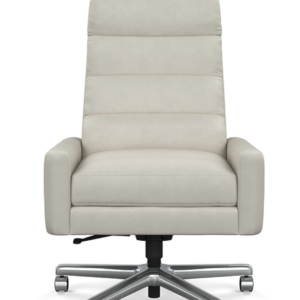 Feather White Leather Office Chair
