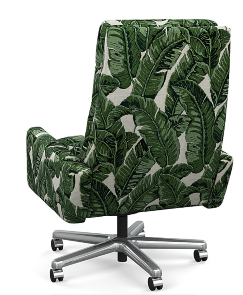 green reclining office chair
